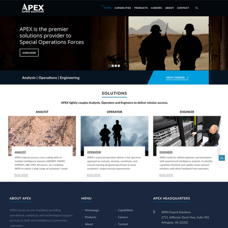 Defense Contractor Website Redesign by Affordable Web Design Company